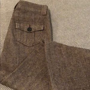 Banana republic brown herringbone pants